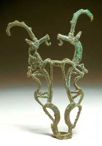 Luristan Bronze Sculpture Depicting Two Gazelles