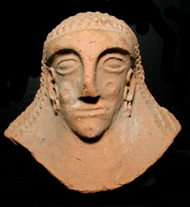 Philistine Terracotta Funerary Mask