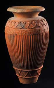 Etruscan Red-Ware Pithos with Relief Decorations