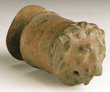 Roman Sculpture of a Lion Head