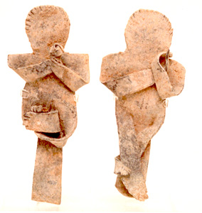 Two Roman Period Lead Curse Anthropomorphic Amulets